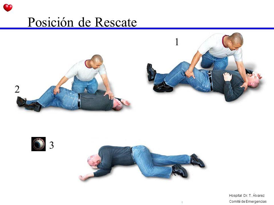 Posición de Rescate 1 2 3 Hospital Dr. T. Álvarez Comité de Emergencias