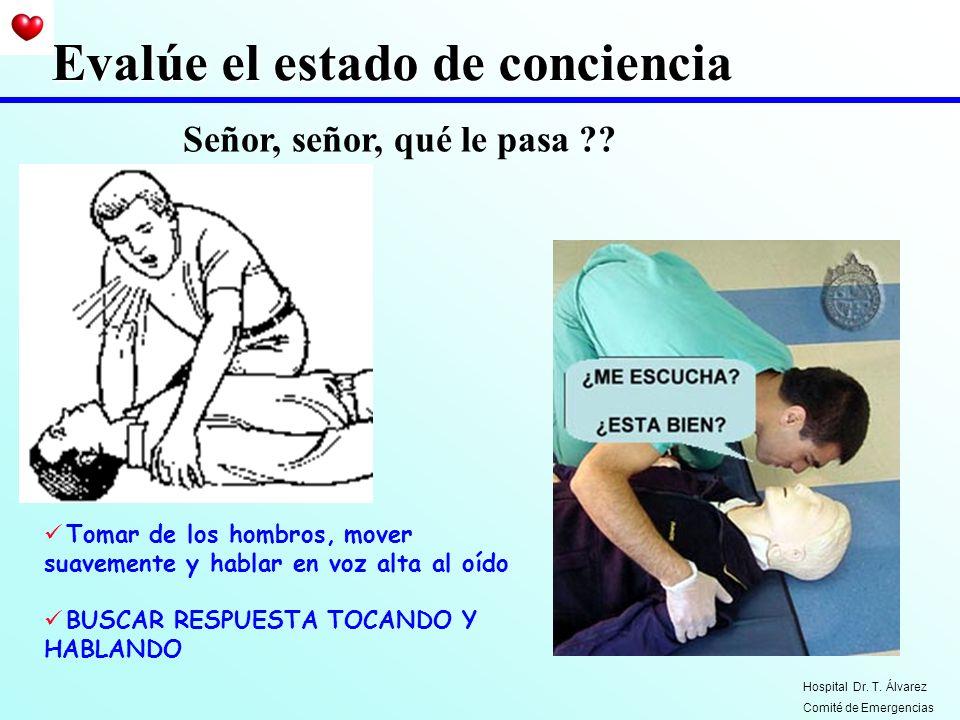 Maniobra de Heimlich En paciente inconciente Hospital Dr. T. Álvarez Comité de Emergencias