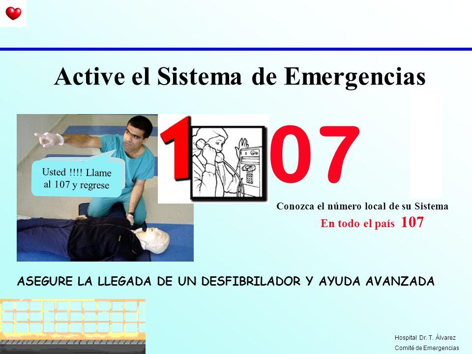 Conozca el número local de su Sistema En todo el país 107 Active el Sistema de Emergencias 07 Usted !!!! Llame al 107 y regrese ASEGURE LA LLEGADA DE