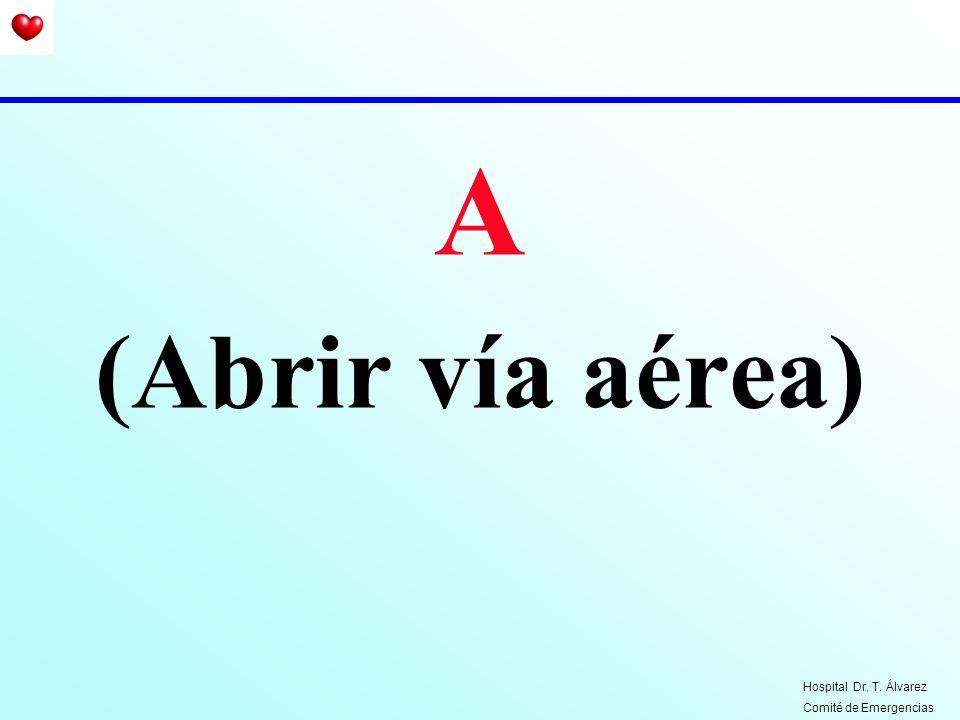 Por qué abrir la vía aérea ? Hospital Dr. T. Álvarez Comité de Emergencias