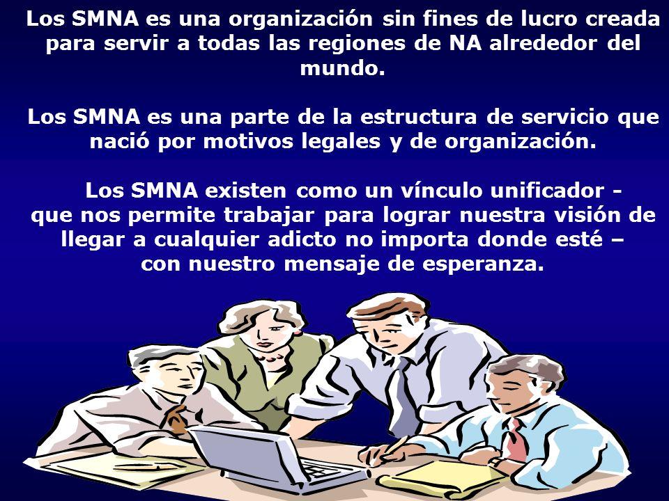 Los SMNA es una organización sin fines de lucro creada para servir a todas las regiones de NA alrededor del mundo. Los SMNA es una parte de la estruct