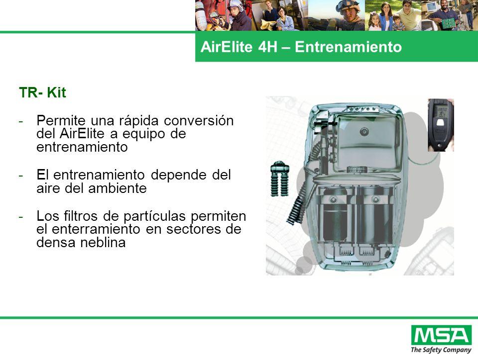 AirElite 4H – Entrenamiento TR- Kit -Permite una rápida conversión del AirElite a equipo de entrenamiento -El entrenamiento depende del aire del ambie