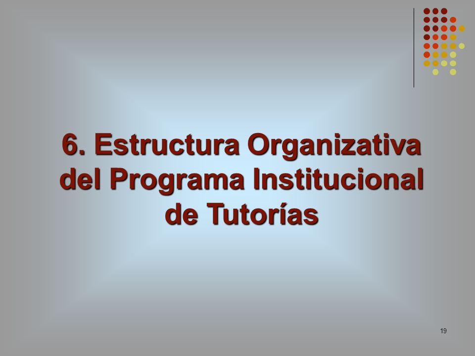 19 6. Estructura Organizativa del Programa Institucional de Tutorías