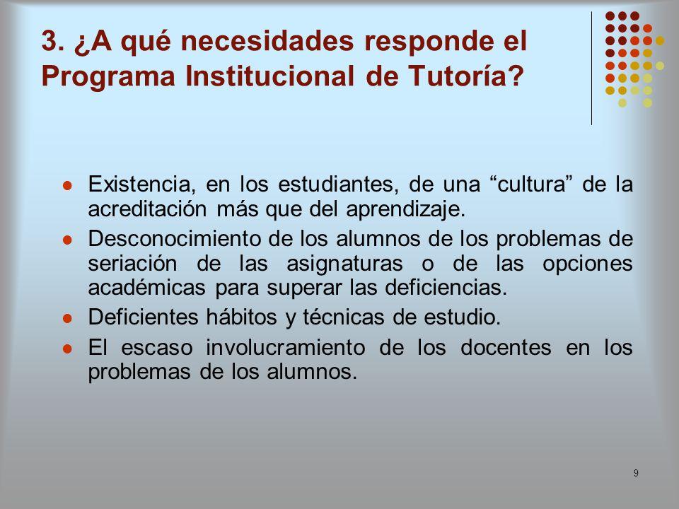 9 Existencia, en los estudiantes, de una cultura de la acreditación más que del aprendizaje. Desconocimiento de los alumnos de los problemas de seriac