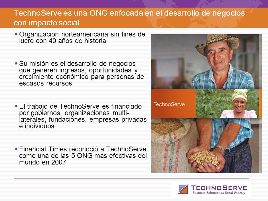 1 Agenda Qué es TechnoServe. Qué son los Negocios Inclusivos.