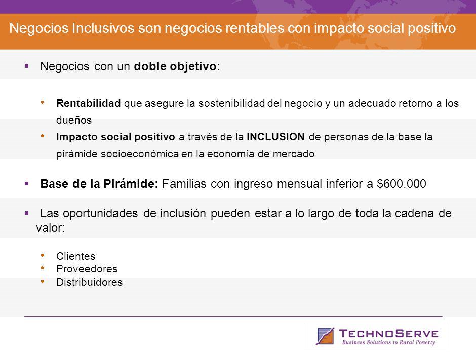 4 Agenda Qué es TechnoServe. Qué son los Negocios Inclusivos.