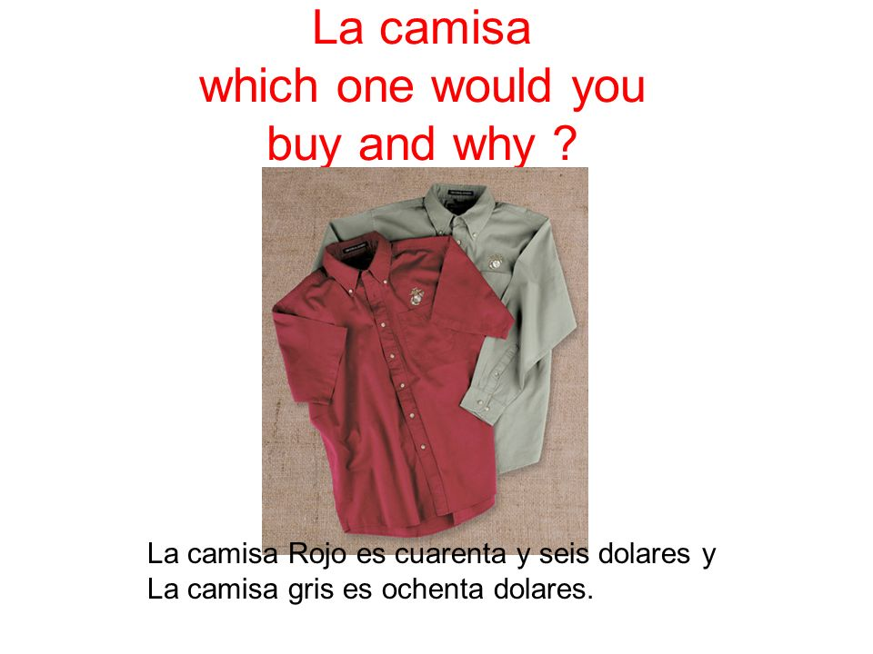 Name these celebrities and describe their clothing in Spanish