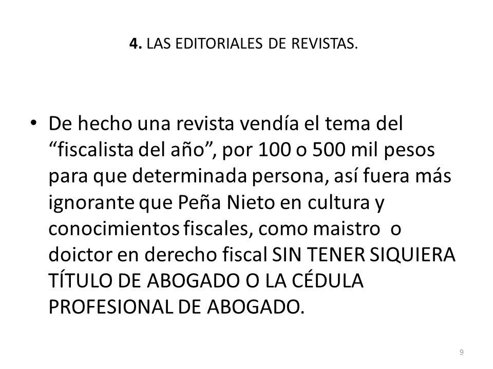 4.LAS EDITORIALES DE LIBROS.
