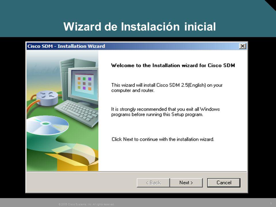 10 © 2005 Cisco Systems, Inc. All rights reserved. Aceptar la licencia