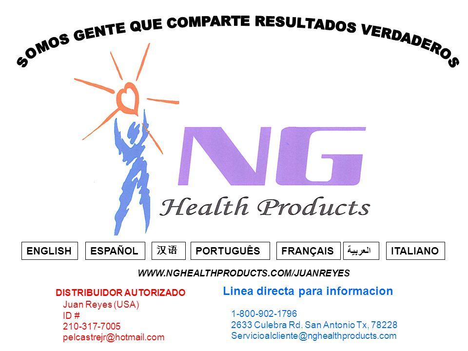 Juan Reyes (USA) ID # 210-317-7005 pelcastrejr@hotmail.com DISTRIBUIDOR AUTORIZADO 1-800-902-1796 2633 Culebra Rd.