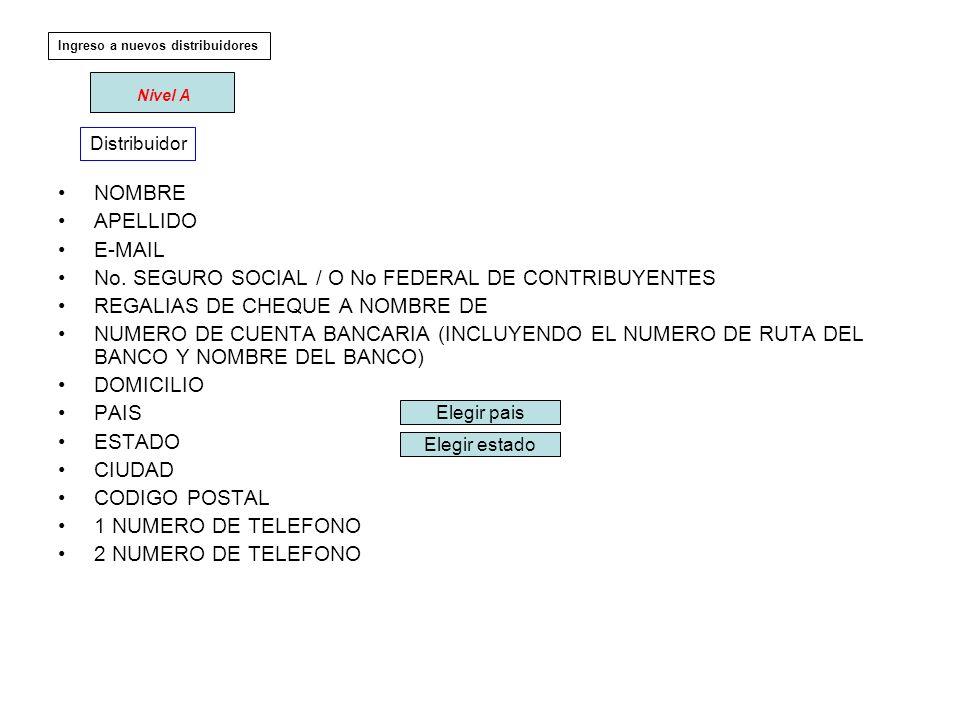 NOMBRE APELLIDO E-MAIL No.