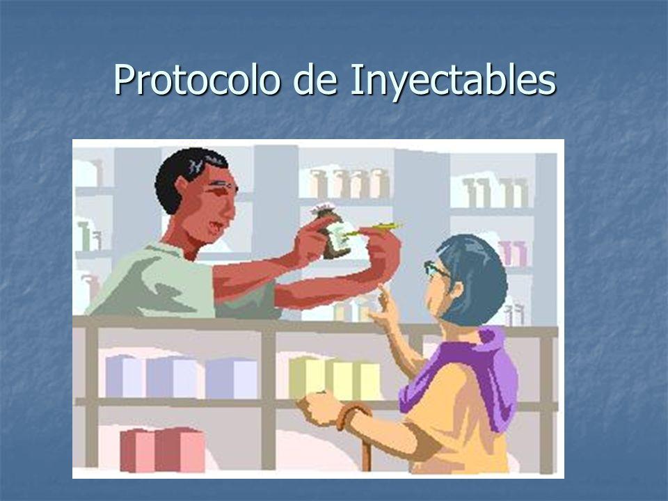 Protocolo de Inyectables