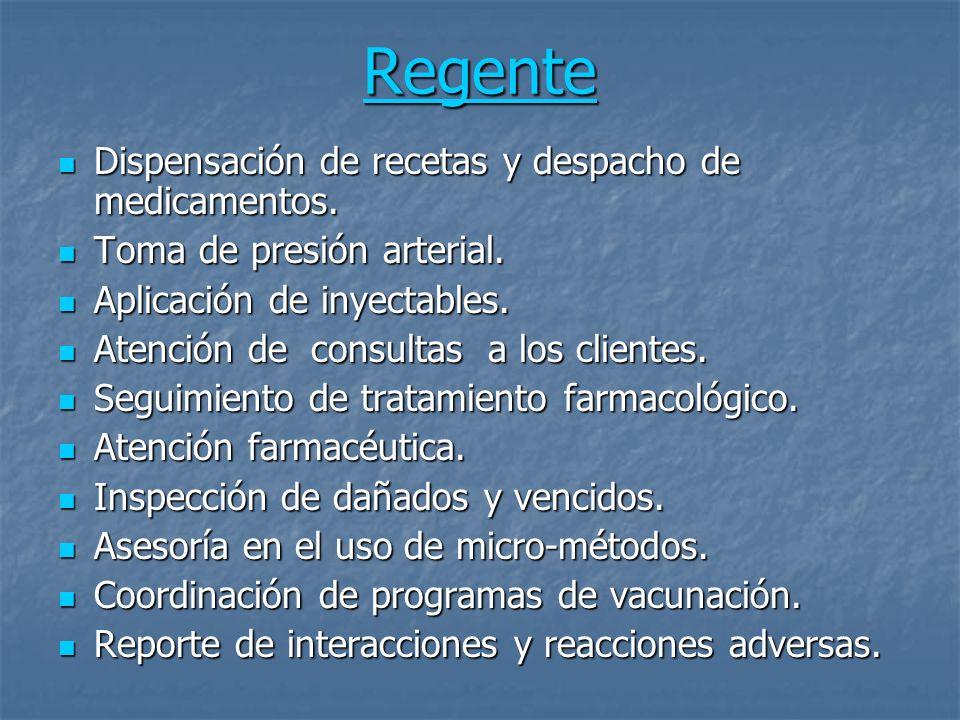 Regente ( si es propietario o su realidad se lo demanda ) Apertura y cierre de punto.