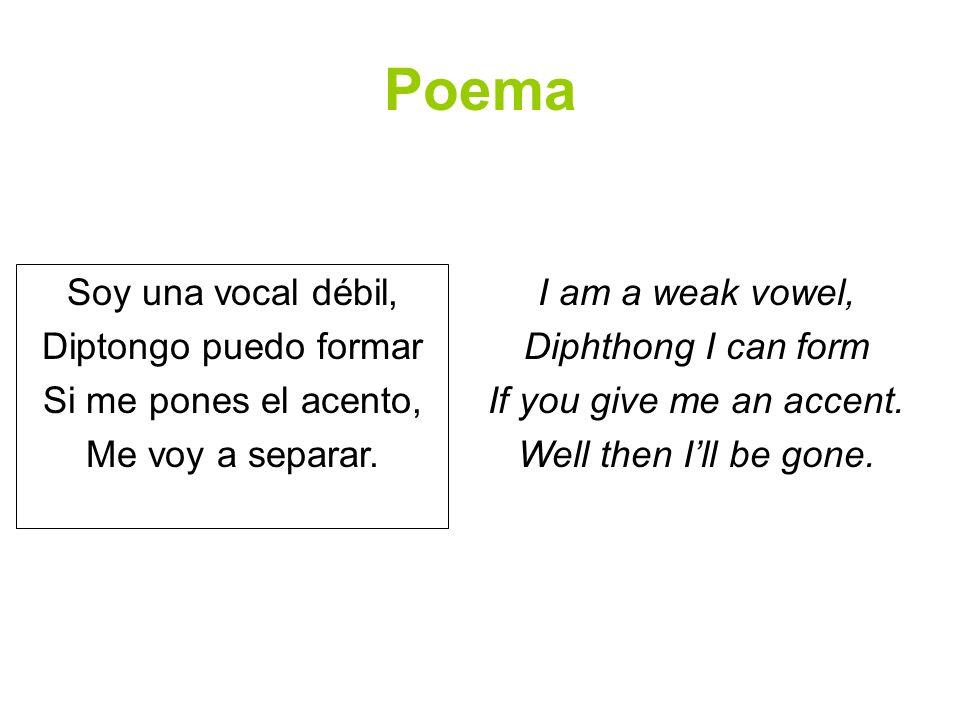 Ejercicio Divide las siguientes palabras en silabas.
