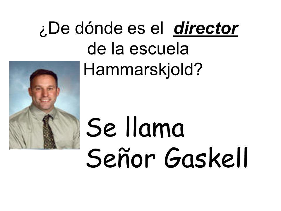 ¿ De dónde es el director de la escuela Hammarskjold Se llama Señor Gaskell