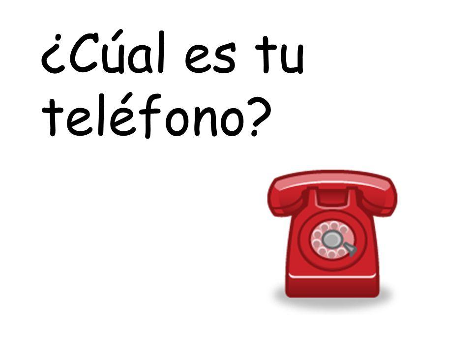 ¿Cúal es tu teléfono
