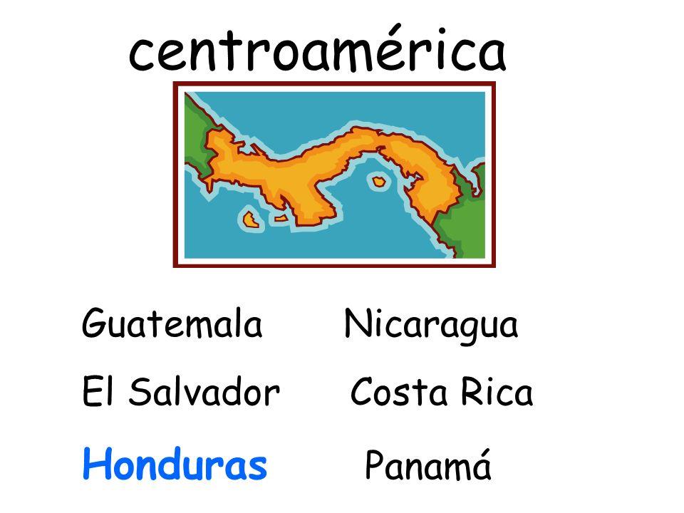 centroamérica Guatemala Nicaragua El Salvador Costa Rica Honduras Panamá