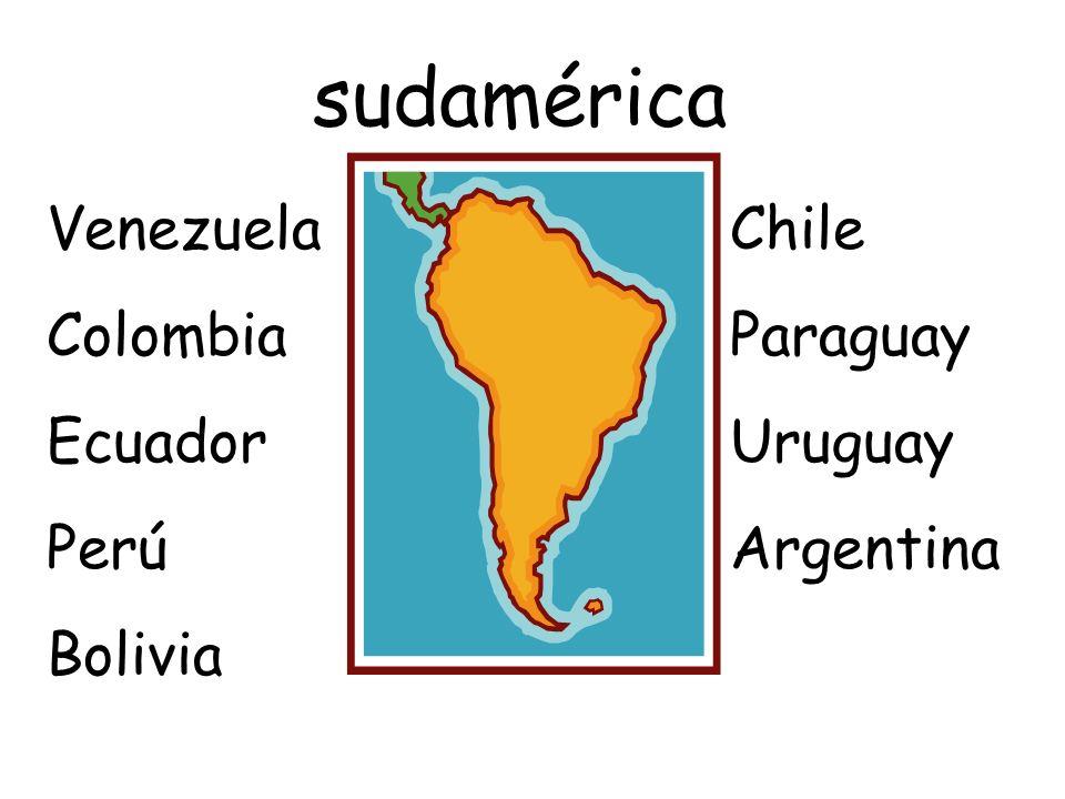 sudamérica Venezuela Colombia Ecuador Perú Bolivia Chile Paraguay Uruguay Argentina
