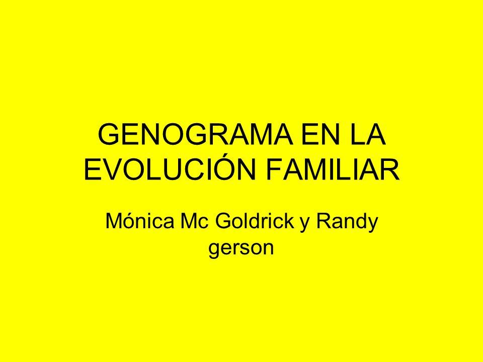 GENOGRAMA EN LA EVOLUCIÓN FAMILIAR Mónica Mc Goldrick y Randy gerson