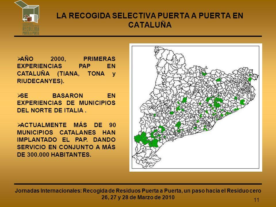 11 LA RECOGIDA SELECTIVA PUERTA A PUERTA EN CATALUÑA AÑO 2000, PRIMERAS EXPERIENCIAS PAP EN CATALUÑA (TIANA, TONA y RIUDECANYES).