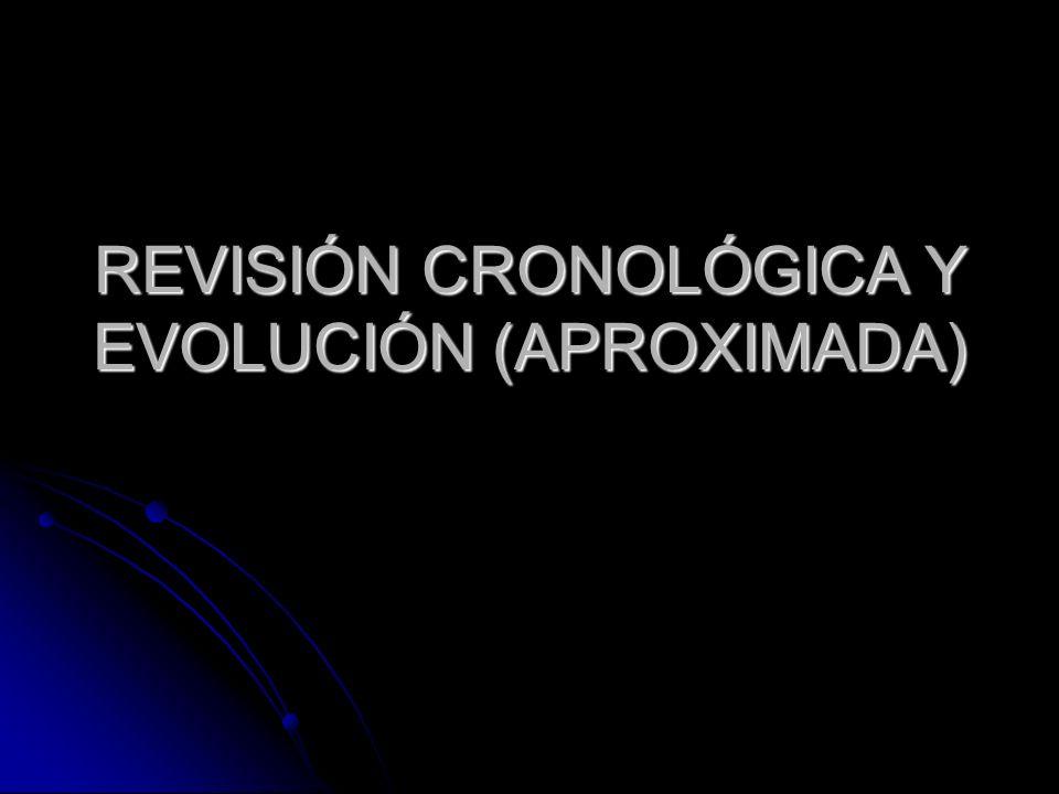 REVISIÓN CRONOLÓGICA Y EVOLUCIÓN (APROXIMADA)