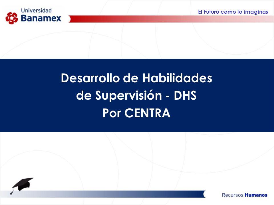 El Futuro como lo imaginas Desarrollo de Habilidades de Supervisión - DHS Por CENTRA