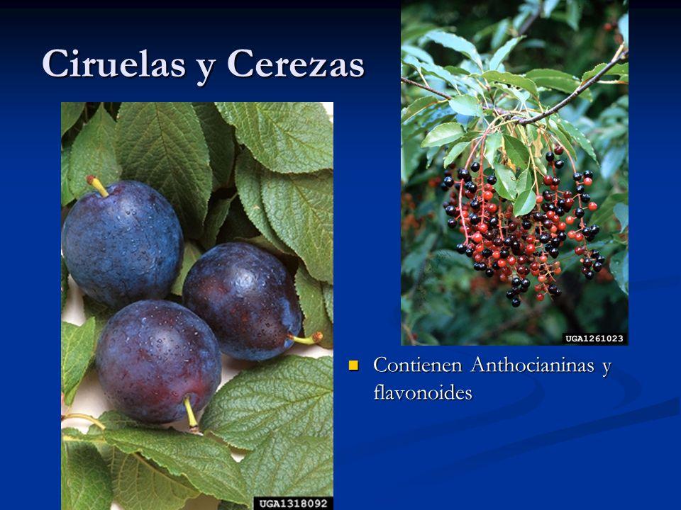 Ciruelas y Cerezas Contienen Anthocianinas y flavonoides