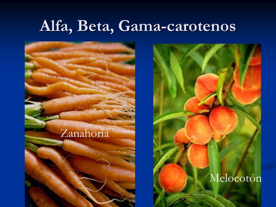 Alfa, Beta, Gama-carotenos Melocotón Zanahoria