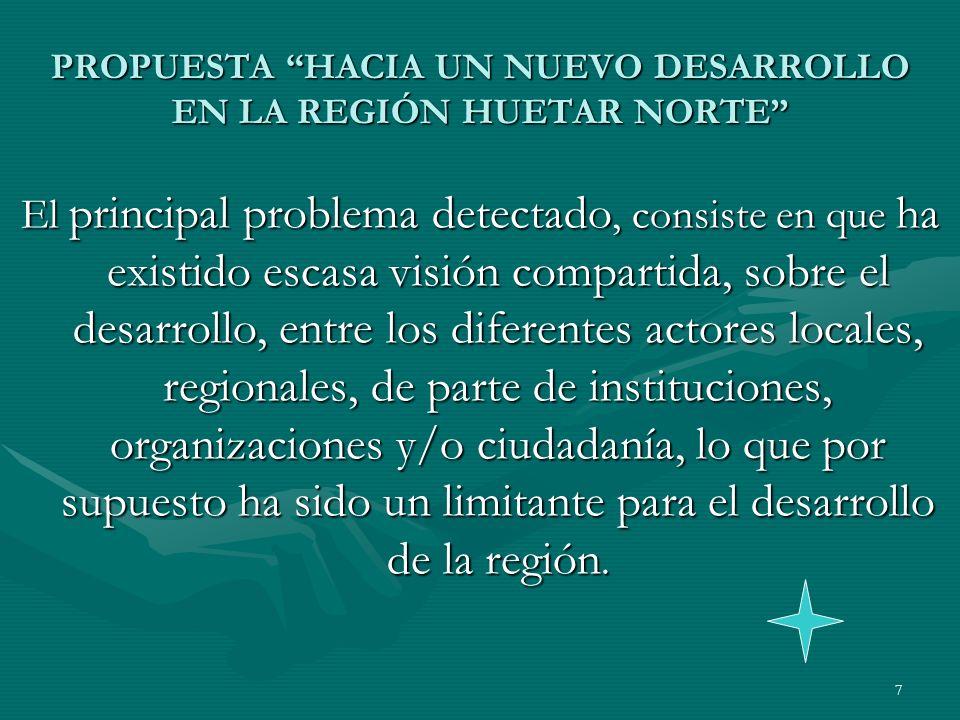 8 OBJETIVOS DE LA PROPUESTA GENERAL Promoción del Desarrollo Económico Local en la zona norte de Costa Rica, liderado por los Gobiernos Municipales.