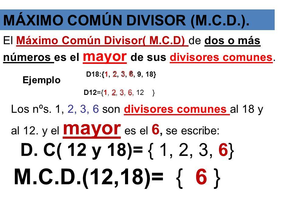 DIVISORES DE UN NÚMERO ( D ) Para hallar los divisores de un número buscamos todas sus descomposiciones en producto de dos factores. 24 = x Se escribe
