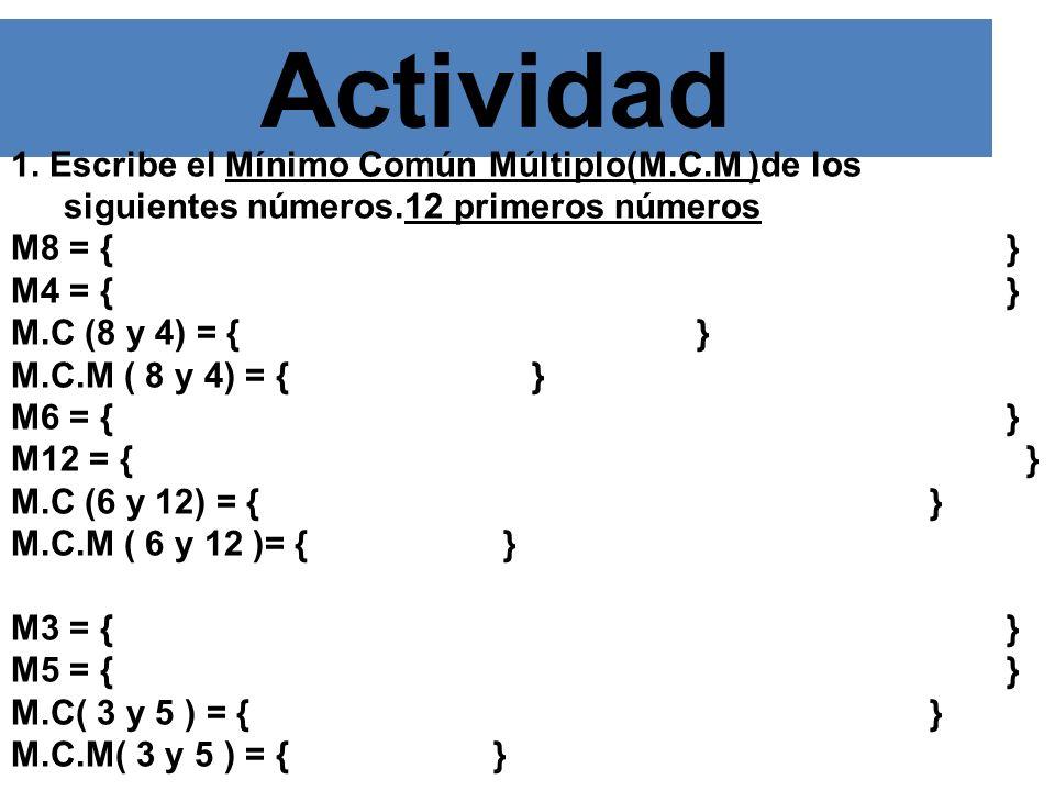 MÁXIMO COMÚN DIVISOR (M.C.D.). El Máximo Común Divisor( M.C.D) de dos o más números es el mayor de sus divisores comunes. Ejemplo D18:{1, 2, 3, 6, 9,