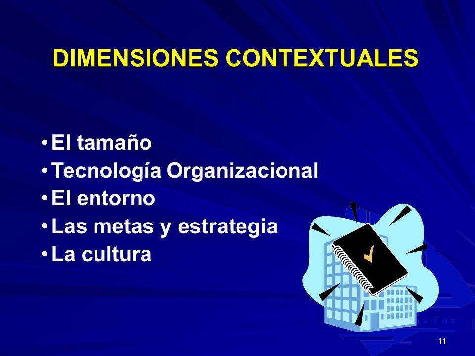 10 DIMENSIONES ESTRUCTURALES La Formalización La especialización La estandarización La jerarquía de autoridad La complejidad La centralización El prof