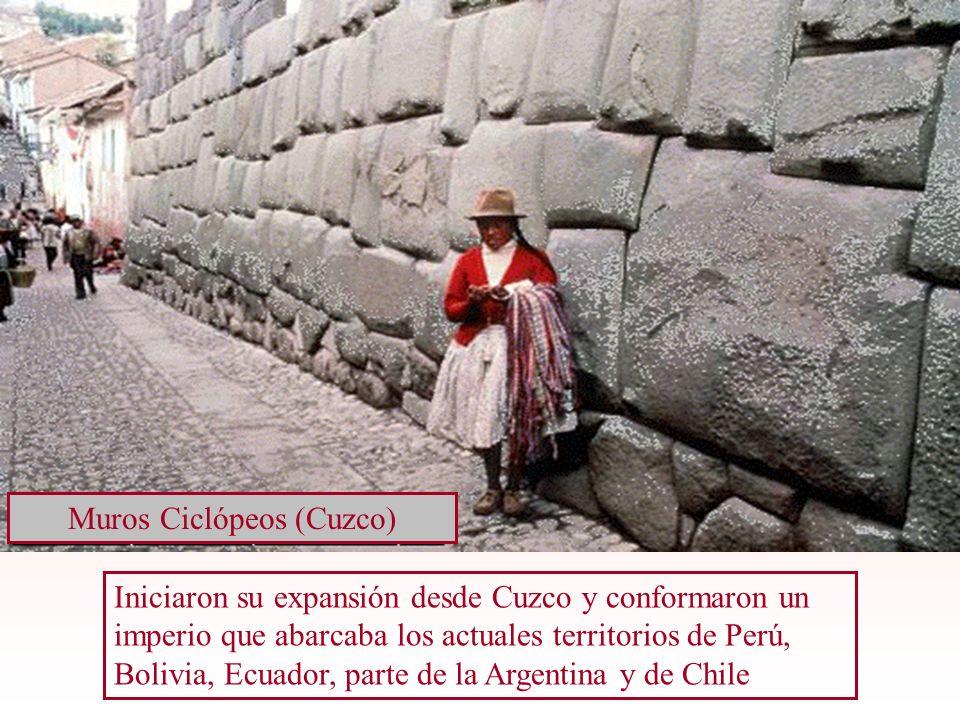 Iniciaron su expansión desde Cuzco y conformaron un imperio que abarcaba los actuales territorios de Perú, Bolivia, Ecuador, parte de la Argentina y d
