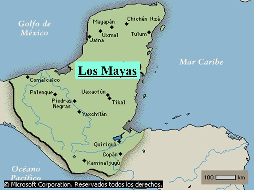 Edificaron la primera de las grandes culturas americanas (siglo V al XIV), en la Península de Yucatán.