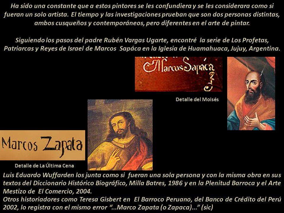 Dos pintores ind í genas del Per ú Arte Sacro del siglo XVIII Marcos Sapáca Y Marcos Zapata Presentación Nº 64 Gabriela Lavarello Vargas de Velaochaga