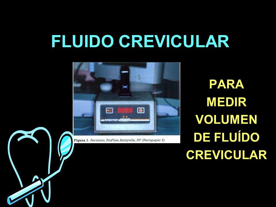 FLUIDO CREVICULAR PARA MEDIR VOLUMEN DE FLUÍDO CREVICULAR