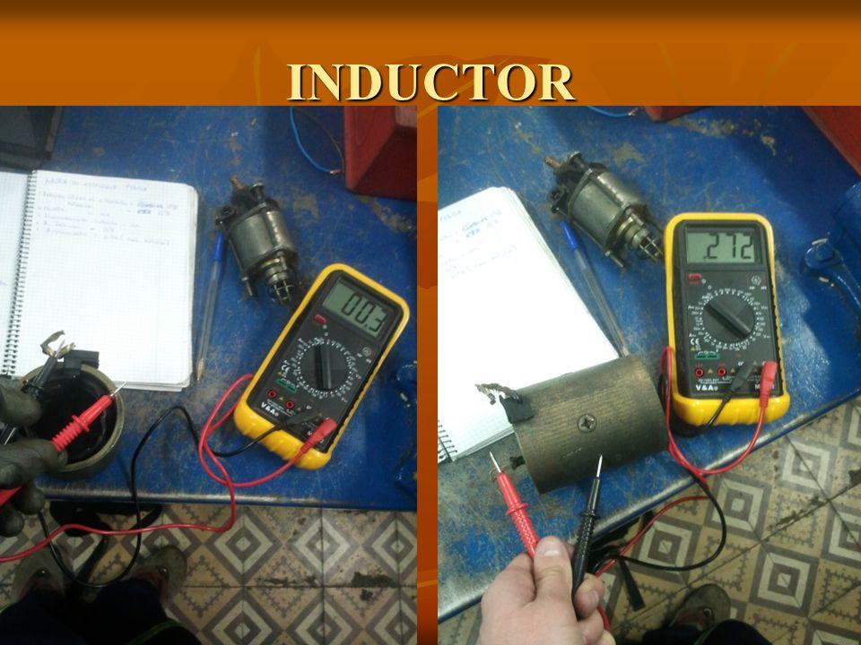 INDUCTOR En el inductor hay que llevar a cabo dos comprobaciones.