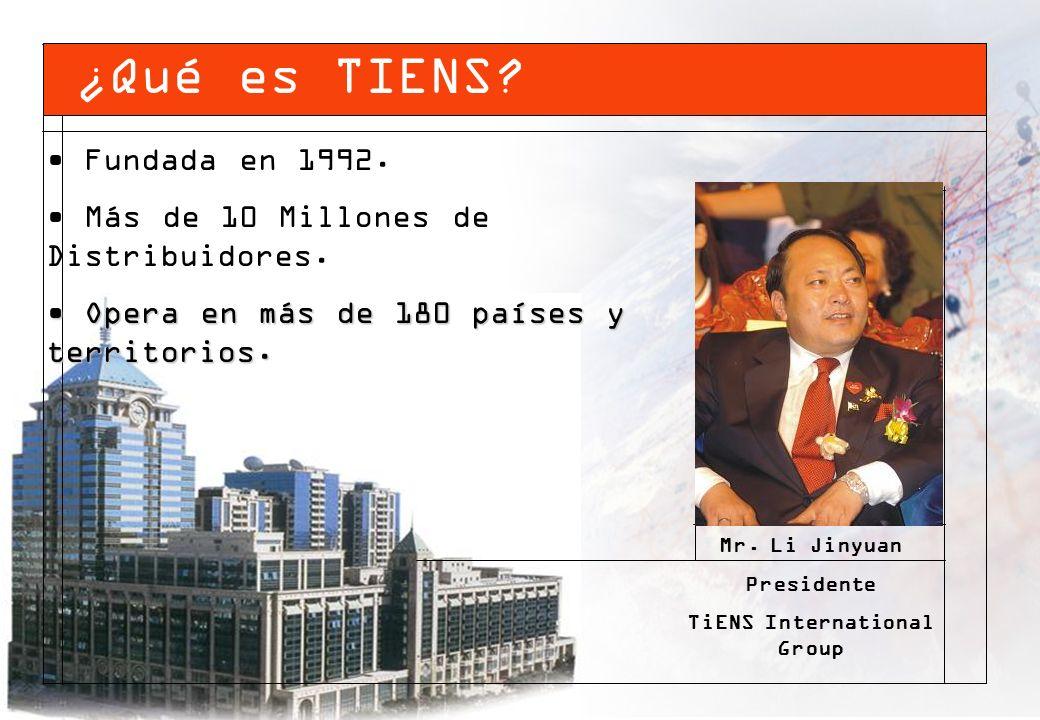 Fundada en 1992. Más de 10 Millones de Distribuidores. Opera en más de 180 países y territorios. Opera en más de 180 países y territorios. Mr. Li Jiny