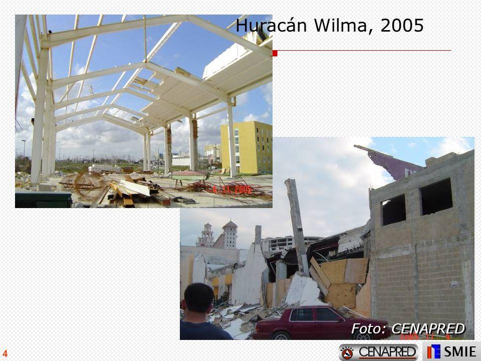 SMIE 4 Huracán Wilma, 2005 Foto: CENAPRED