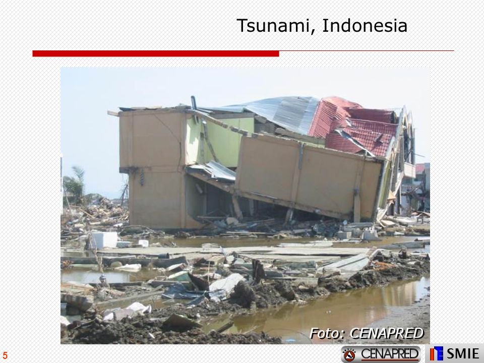 SMIE 5 Tsunami, Indonesia Foto: CENAPRED