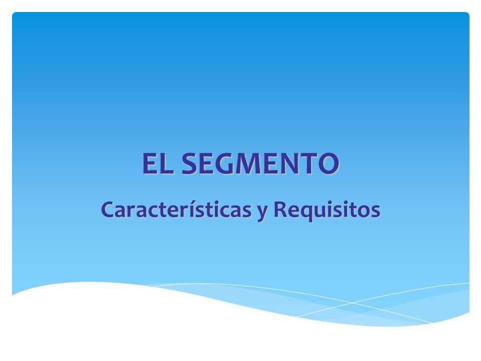 EL SEGMENTO Características y Requisitos