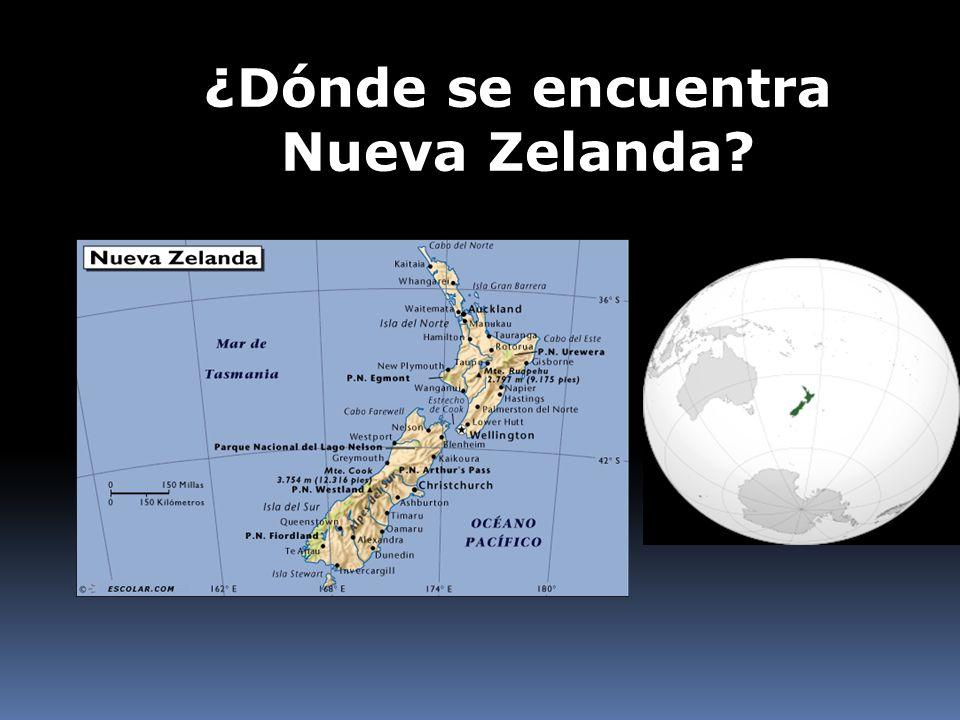 ¿Dónde se encuentra Nueva Zelanda?