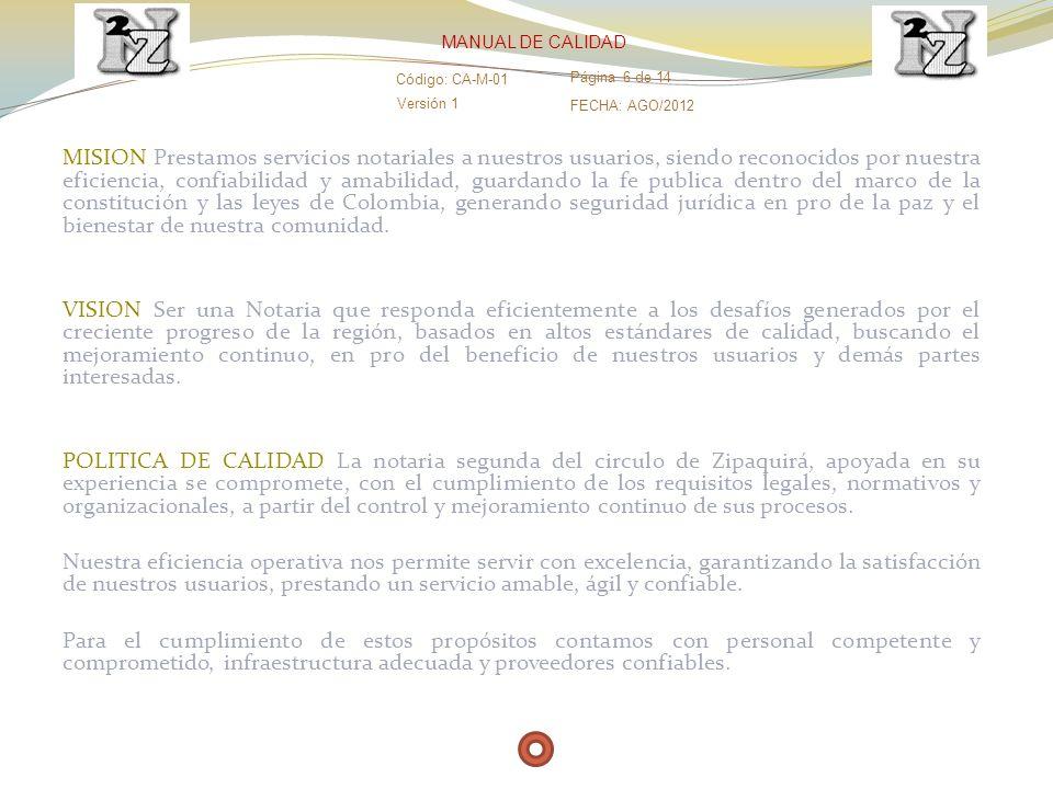 OBJETIVOS DE CALIDAD 1.GARANTIZAR EL PRINCIPIO DE LEGALIDAD.