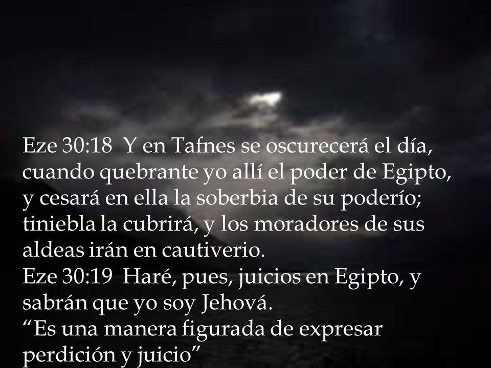 Fortaleceré, pues, los brazos del rey de Babilonia, y los brazos de Faraón caerán; y sabrán que yo soy Jehová, cuando yo ponga mi espada en la mano del rey de Babilonia, y él la extienda contra la tierra de Egipto.