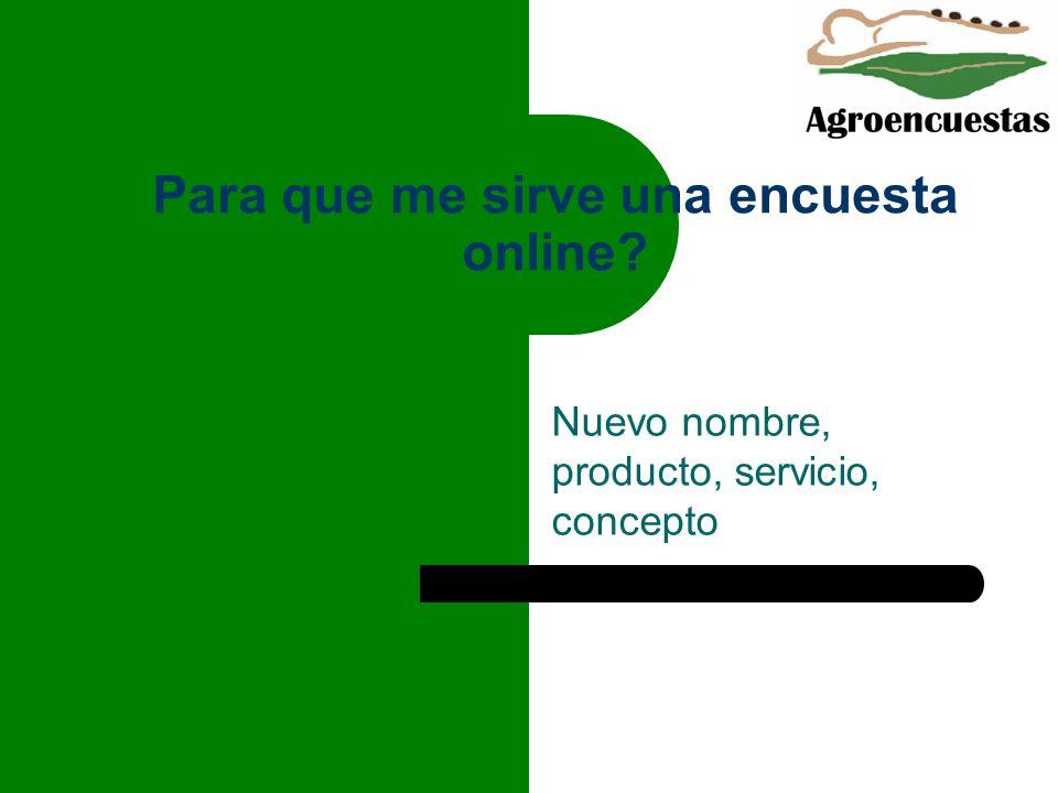 Para que me sirve una encuesta online? Nuevo nombre, producto, servicio, concepto