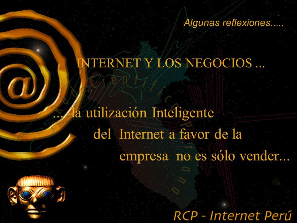 INTERNET Y LOS NEGOCIOS....... algunas reflexiones...