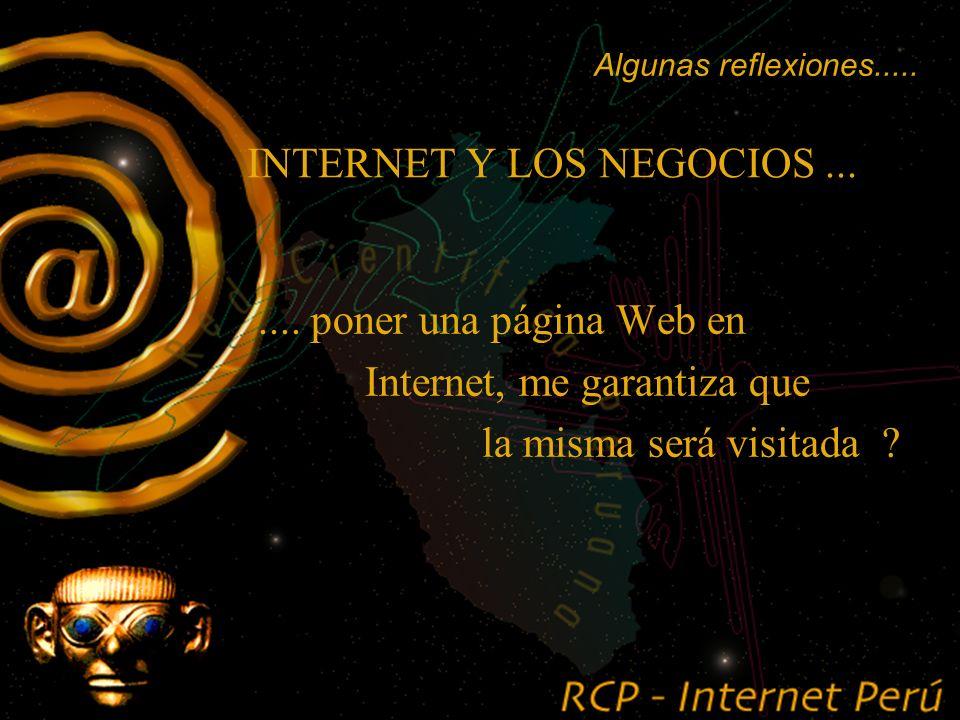 INTERNET Y LOS NEGOCIOS.......... desarrollar Intranets ! Algunas reflexiones.....