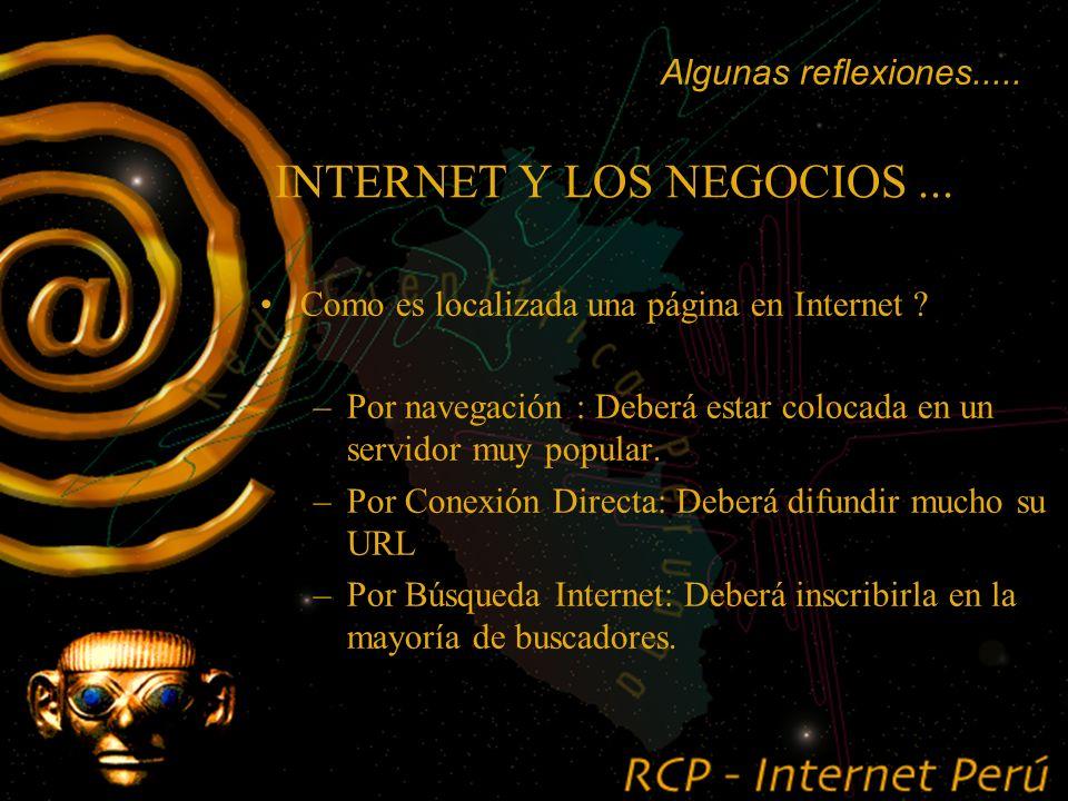 INTERNET Y LOS NEGOCIOS....... poner una página Web en Internet, me garantiza que la misma será visitada ? Algunas reflexiones.....