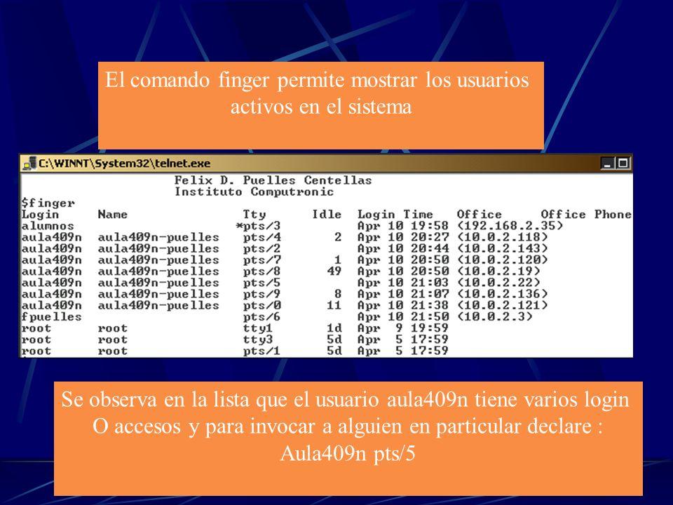 Comandos de Comunicaciones En el tema de las comunicaciones los Sistemas UNIX tienen una gran ventaja debido a que es un sistema exclusivo para este t