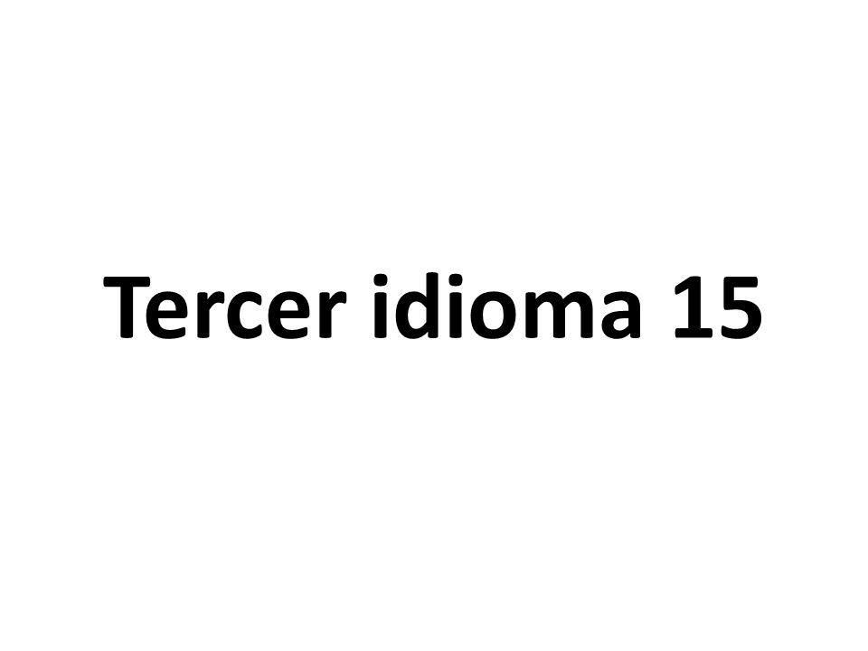 Segundo idioma 15